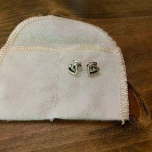 James Avery Open Heart Post Earrings